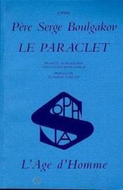 Le paraclet - Couverture - Format classique