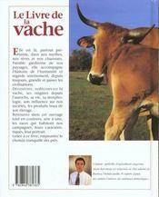 Le Livre De La Vache - 4ème de couverture - Format classique
