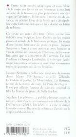 De La Coupe Aux Levres ; Ecrire L'Eros - 4ème de couverture - Format classique