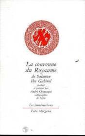 Couronne Du Royaume (La) - Couverture - Format classique