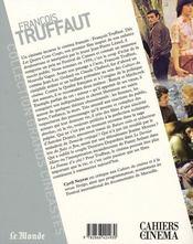 François Truffaut - 4ème de couverture - Format classique