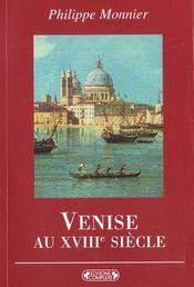 Venise au xviiie siecle - Intérieur - Format classique