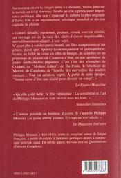 Venise au xviiie siecle - 4ème de couverture - Format classique