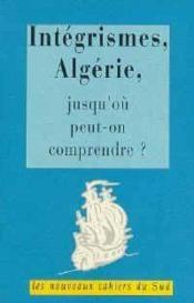 Integrismes, Algerie - Couverture - Format classique