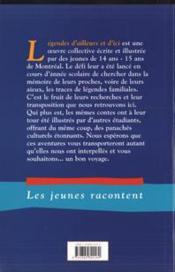 Legendes D'Ailleurs Et D'Ici. Les Jeunes Racontent - 4ème de couverture - Format classique