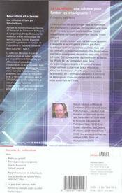 Sociologie, Une Science Pour Former Les Enseignants (La) - 4ème de couverture - Format classique