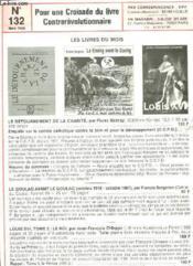 Pour Une Croisade Un Livre Contrerevolutionnaire - N°132 - Couverture - Format classique