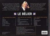 Le Belier - 4ème de couverture - Format classique
