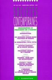 Societes Contemporaines N.33 ; Immigrarion Et Politiques De L'Habitat - Couverture - Format classique