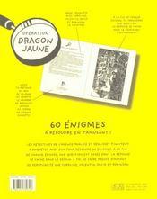 Operation dragon jaune - 4ème de couverture - Format classique