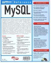 Mysql - 4ème de couverture - Format classique