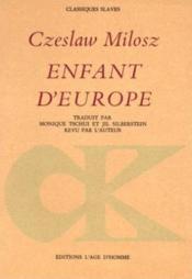 Enfant d'Europe - Couverture - Format classique