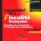 Essentiel de la fiscalite francaise 2002 (l') - Intérieur - Format classique