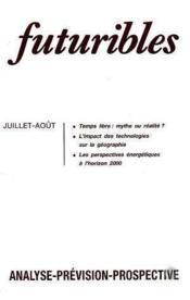 Futuribles N.156 Juillet Aout 1991 - Couverture - Format classique