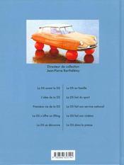 Ds citroen (la) - 4ème de couverture - Format classique