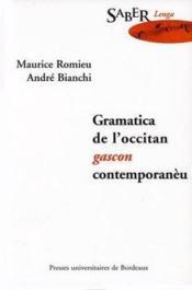 Gramatica De L Occitan Gascon Contemporaneu - Couverture - Format classique