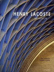 Henry Lacoste ; architecte - Couverture - Format classique