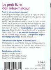 Petit Livre Des Aides- Minceur - 4ème de couverture - Format classique