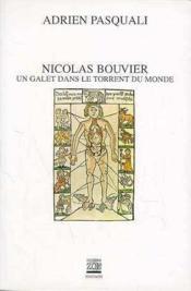 Nicolas Bouvier, Un Galet Dans Le Torrent Du Monde - Couverture - Format classique