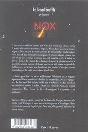 Nox - 4ème de couverture - Format classique