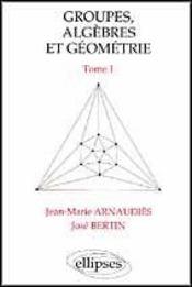 Groupes Algebres Et Geometrie Tome 1 - Intérieur - Format classique