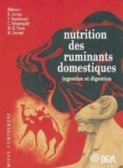 Nutrition des ruminants domestiques - Couverture - Format classique