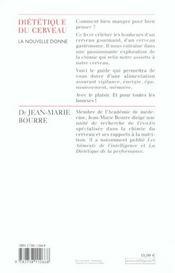 La Dietetique Du Cerveau - 4ème de couverture - Format classique