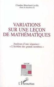 Variations Sur Une Lecon De Mathematiques - Couverture - Format classique