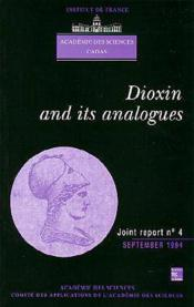 Dioxin And Its Analogues (Joint Report N.4 Academy Of Sciences Cadas) - Couverture - Format classique