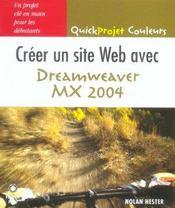 Creer une page web avec dreamweaver mx 2004 - Intérieur - Format classique