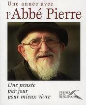 Une année avec l'abbé Pierre - Intérieur - Format classique