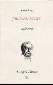 Journal Inedit 1892-1895 Tome 1 - Couverture - Format classique