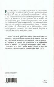 Naturaliste - 4ème de couverture - Format classique