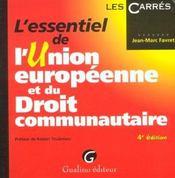 Essentiel De L'Union Europeenne Et Du Droit - Intérieur - Format classique