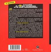 Essentiel De L'Union Europeenne Et Du Droit - 4ème de couverture - Format classique