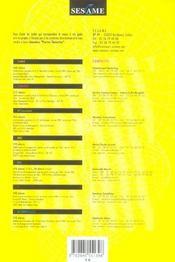 Sesame ; Annales 2005 ; Sujets Et Corriges Officiels - 4ème de couverture - Format classique
