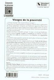 Visages De La Pauvrete -Don Alimentaire Et Precarite Urbaine - 4ème de couverture - Format classique