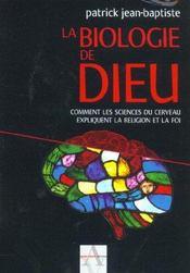 La Biologie De Dieu - Intérieur - Format classique