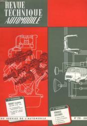 Revue Technique Automobile - N°218 - Couverture - Format classique