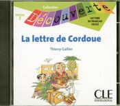 Vente livre :  Cd decouv lettre de cordoue  - Thierry Gallier