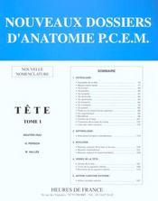 Anatomie : Tete T.1 - Intérieur - Format classique