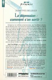 La dépression : comment s'en sortir ? - 4ème de couverture - Format classique