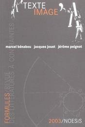 Formules N.7 ; Texte/image - Intérieur - Format classique