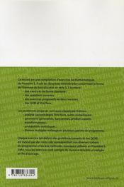 Exercices corrigés de mathématiques ; 1ère S ; dans l'esprit du nouveau bac S - 4ème de couverture - Format classique