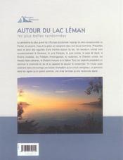 Les plus belles randonnées autour du lac Leman - 4ème de couverture - Format classique