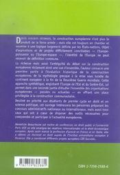 La Construction Europeenne De L'Antiquite A Nos Jours - 4ème de couverture - Format classique