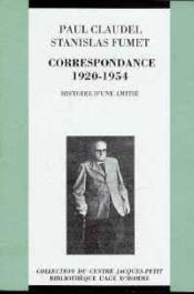 Correspondance avec Stanislas Fumet - Couverture - Format classique
