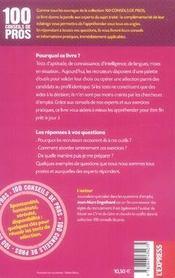 100 Conseils De Pros Pour Reussir Les Tests De Selection (Edition 2006-2007) - 4ème de couverture - Format classique
