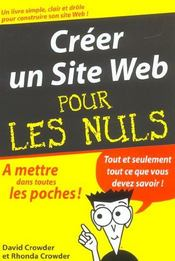 Vente livre :  Creer un site web  - Rhonda Crowder - David Crowder
