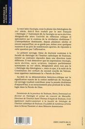 Theologie Et Intelligence De La Foi - 4ème de couverture - Format classique